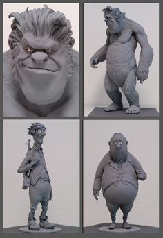 Character Maquettes for Lissy and the wild Emperor 2005 model, charact maquett, tradit sculptur, charact referencecartoon, zbrush character, 3d art, zbrush sculpt, character maquette, styliz sculptur