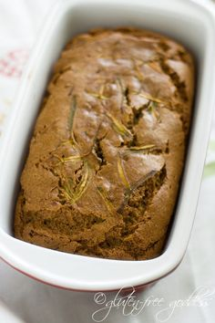 Easily made vegan!  Karina's gluten-free zucchini bread