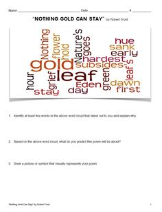 Robert frost nothing gold can stay analysis