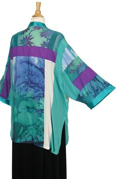 Dressy Kimono Jacket Artwear Jade Fuschia Purple Size 26/28, 30/32  SHOP NOW: Unique jackets for women Sizes 14 - 36, mother of the bride, special occasion, artwear, elegant and unique women's clothing,xoPeg #PeggyLutzPlus #PlusSize #style #plussizestyle #plussizeclothing #plussizefashion #womenstyle #summerstyle #summerfashion #springwedding #summerstyle #fallstyle #fallfashion #formal  #couture #divastyle #pluswedding #plusbridal