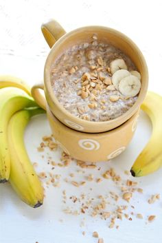 Eat Good 4 Life: peanut butter and banana breakfast oatmeal