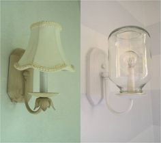 Super creative applesauce jar sconce makeover.