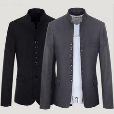 Multi Buttons Asian Tunic Style Men Blazer Jacket | Sneak Outfitters