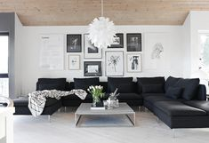 black sectional + ga