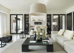 Gorgeous Black and White Living Room