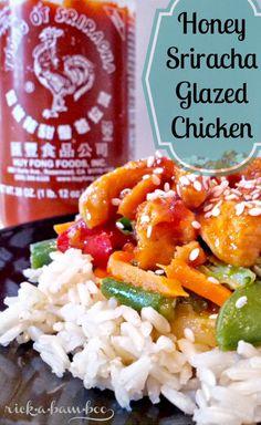 Honey sriracha glazed chicken