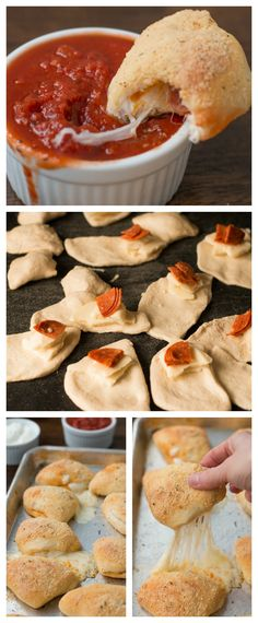 Mini Pizza Dippers -  These were so easy to make and they are just like your favorite pizza place but pocket sized!