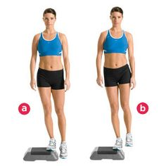 Hip Hikes: Stand on a step at least four inches high with one foot hanging off the side, hips squared forward and shoulders level. Keeping your standing leg straight, raise your free hip directly upward and then drop the leg back to the starting position. Do as many as you can do in 30-90 seconds, then switch legs.    Click for 7 more core- and hip-strengthening exercises: http://ow.ly/omnDF