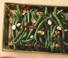 Skinny Holiday Recipes: Green Beans With Blackened Sage and Hazelnuts. #SkinnyHolidaySweeps