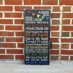 fun playroom rules
