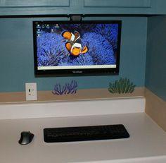 Workstation installed - undermount monitor, wireless.