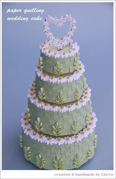 Claire's paper craft: Wedding Cake -paper quilling