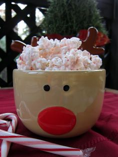 Peppermint Popcorn Bark - 2 bags of microwave popcorn (18-20 cups), 1 6oz. box of candy canes, 1 pkg. Almond Bark & 1 tsp. peppermint extract. Toss crushed candy canes over popped corn. Melt almond bark, adding the tsp. of peppermint extract & pour over popped corn. Toss to coat. place on waxed paper to cool..... i hate popcorn but i would totally grub on these