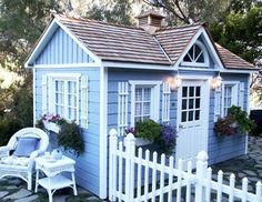 It looks like a tiny house! This elegant garden shed can serve many backyard purposes: potting shed, studio, office, retreat, guest cottage, pool cabana, or storage shed