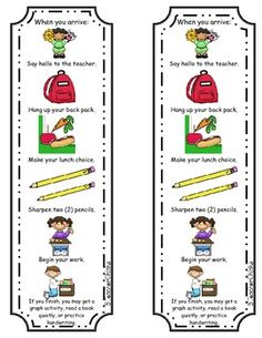 Reminder of morning procedures; put one on each desk#Repin By:Pinterest++ for iPad#