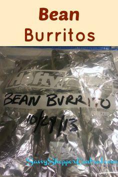 Bean Burritos - Great OAMC recipe #freezercooking food recip, freezer dinners, burritos, black beans, bean burrito, freezer fixin, freezer cooking, freezer meal, meal recip