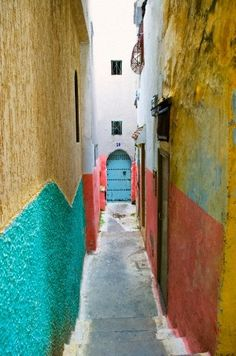 Tangiers Kasbah Alley. Northern Morocco.