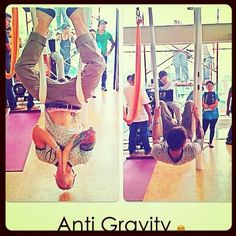 Try Anti-Gravity Yoga.