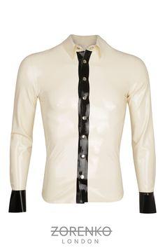 Mens Detailed Latex Shirt by ZorenkoLondon latex shirt