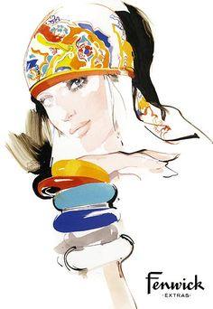 Fenwick   David Downton #fashion #Illustration