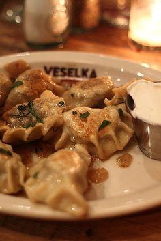 Varenyky (Pierogies) at Veselka