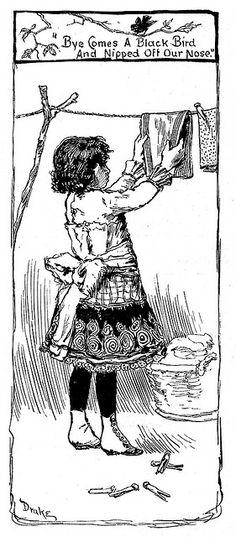 vintage illustration nurseri rhyme, vintage illustrations, nursery rhymes, vintag illustr