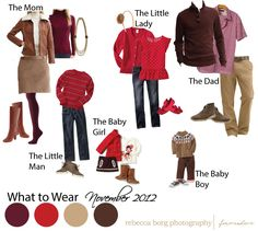 red, burgundy, chocolate, graham cracker holiday look for family pictures { Chicago Family Photographer | What to Wear }
