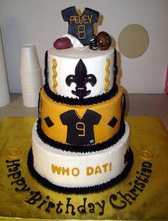 New Orleans Saints Birthday Cake Fleur De Lis Jersey