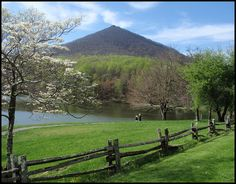 Peaks of Otter near Bedford, VIRGINIA. We see this sight from our favorite mountain getaway