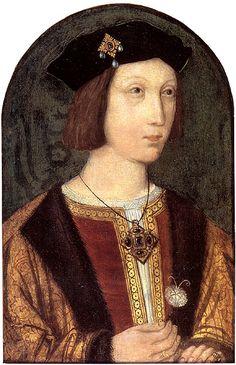 Arthur Tudor, brother of Henry VIII, first husband of Catherine of Aragon (1486-1502)