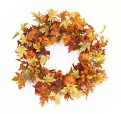 Maple Leaf Wreath with Pumpkins http://www.amazon.com/dp/B008PBUUCE/ref=cm_sw_r_pi_dp_M80pqb068SXS4