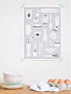 Kitchen print - A3. €22.50, via Etsy.
