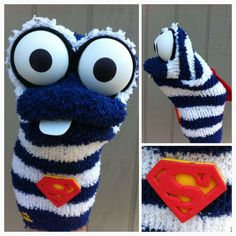 Sock Puppets 5. superhero sock, socks, sock puppets, kid
