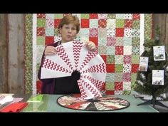 The Easiest Christmas Table Topper / Mini Tree Skirt You'll Ever Make!  Missouri Quilt Co.