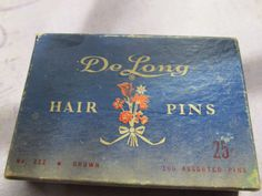 Vintage Box of Hairpins. $5.95, via Etsy.