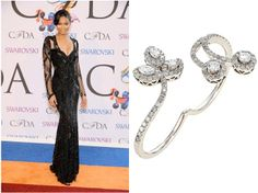 Chanel Iman looking extravagant in the Double Vine Ring at the 2014 CFDA Fashion Awards