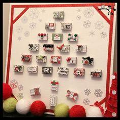 Lookie What I Did: Matchbox Advent Calendar Board