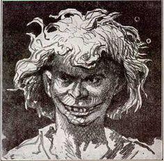 Victor Hugo's drawing of Gwynplaine