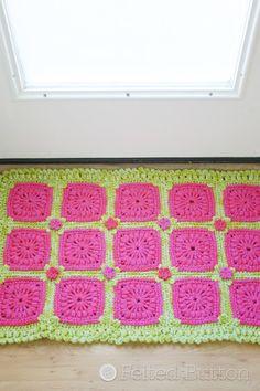 Crochet Pattern Melon Berry Rug Blanket by FeltedButton on Etsy, $5.50
