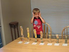 Number cards & blocks activity....looks so fun!  How high can you go?