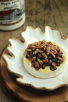 Baked Brie with Maple and Pecans