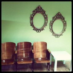 #Office #Tour 6 - #Vintage #school #chairs #frames