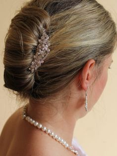 Bridal Hair comb by JamJewels1