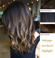 Balayage Highlights and Balayage Ombre for Spring 2014 the style is ombre balayage locks in color: light cool brown, medium ash brown