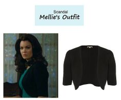 "On the blog: Mellie's (Bellamy Young) black wool shrug | Scandal - ""Mama Said Knock You Out"" (Ep. 315) #tvstyle #tvfashion #outfits #fashion #FLOTUS"