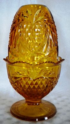 Fenton Strawberry Amber Fairy lamp