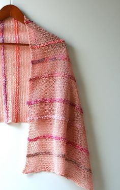 Ready to Ship Coral and Shells Hand Knit Linen Summer by #AmyLaRoux