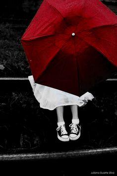Guarda-chuva vermelho scarlet