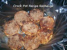 Crock Pot Iced Cinnamon Biscuits