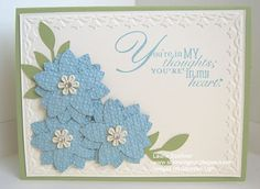 spots, sympathy cards, lauri stampin, word play, punch word, thought, sympathi card, flower, petal punch